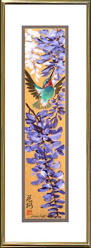 Wisteria & Hummingbird #3