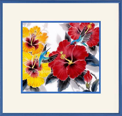 Hibiscus & Hummingbirds, FLW1