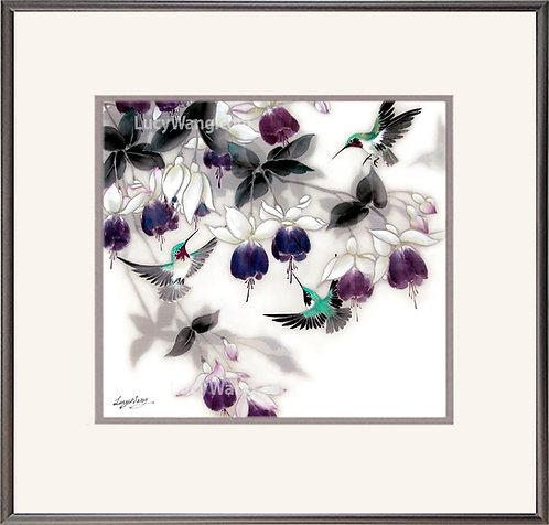 Fuchsia & Hummingbirds #2
