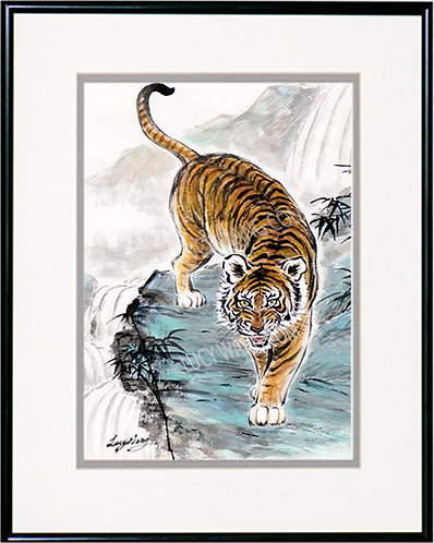 Tiger & Waterfall