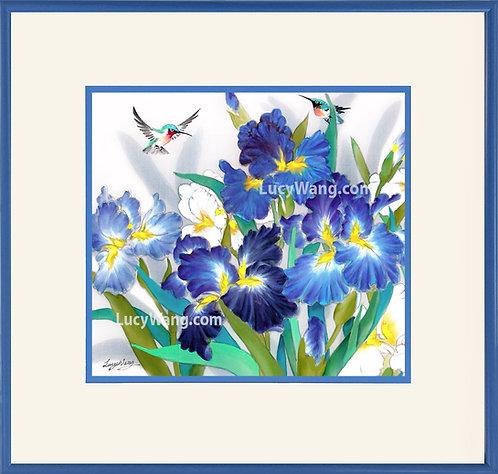 Iris & Hummingbirds #3