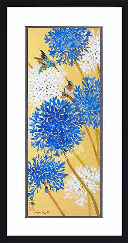 Agapanthus & Hummingbirds (Sold)