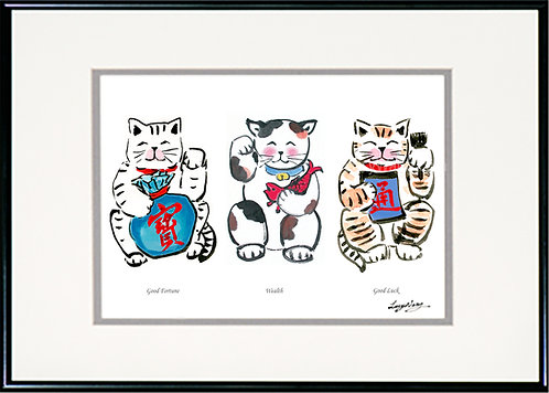 Three Good Fortune Cats