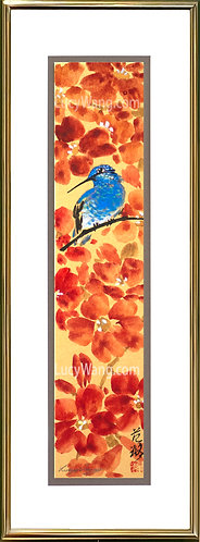 Trumpet Vine & Hummingbird #1-(sold)