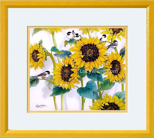 Sunflowers & Chickadees