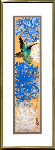 Agapanthus & Hummingbird #1