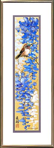 Wisteria & Hummingbird #4