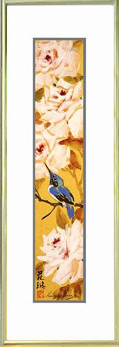 Roses & Hummingbird