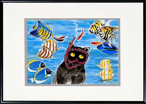 Snorkeling Cat #2