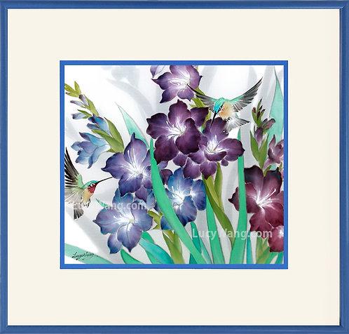 Gladiolus & Hummingbirds