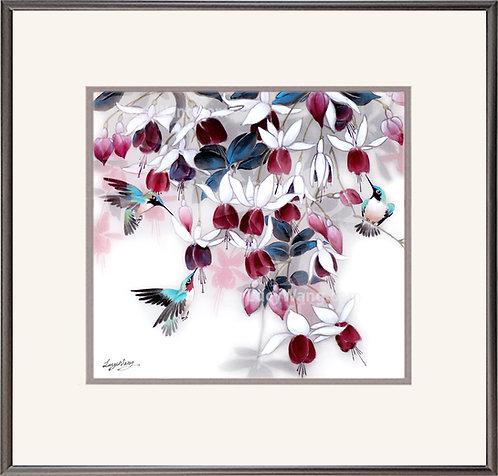 Fuchsia & Hummingbirds #4