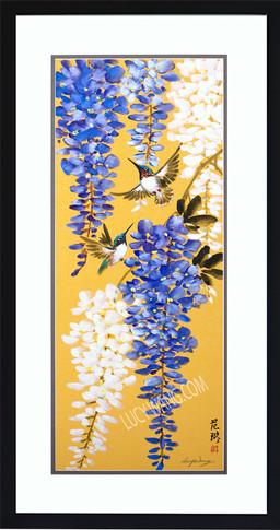 Wisteria & Hummingbirds