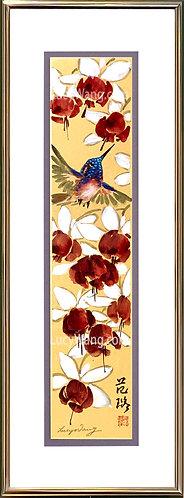 Fuchsia & Hummingbird #1