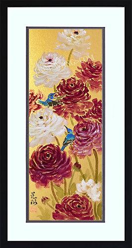 Ranunculus & Hummingbirds