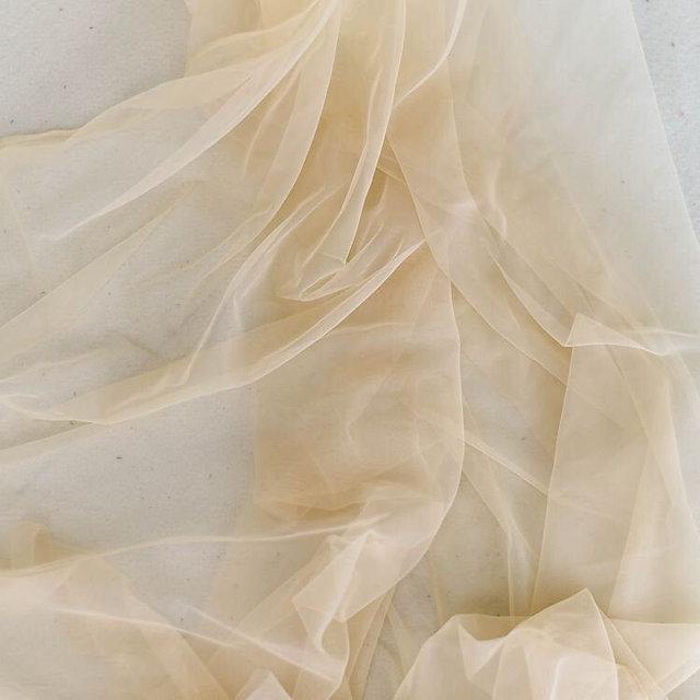 5 yards Skintone soft illusion lace tull