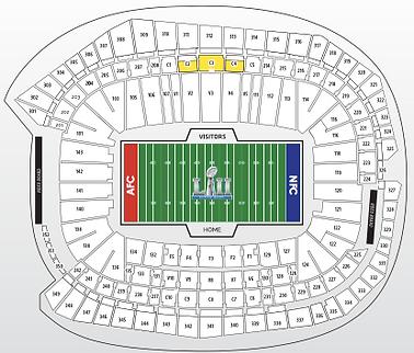 Meza Sports Super Bowl LI 2016 Boletos de estadio & paquetes de viaje