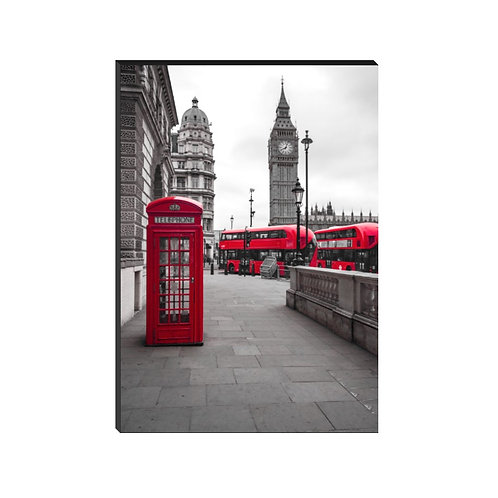 Teléfono rojo en Londres
