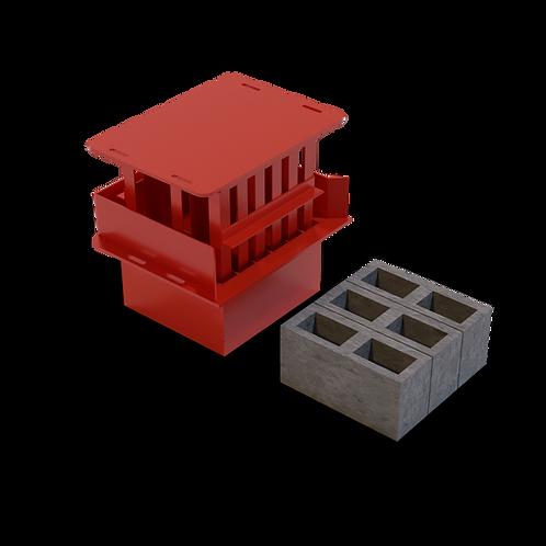 JJBBM M6 Cavity Block MK2 Mould (140x190x390mm)