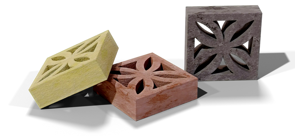 Concrete breeze blocks clover pattern