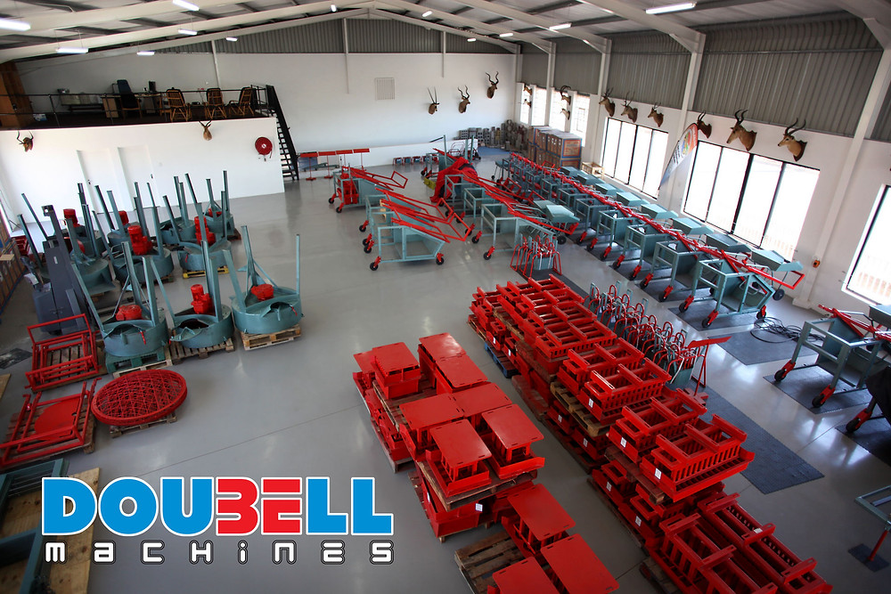 Doubell Showroom of brick machines, brick moulds and panmixers