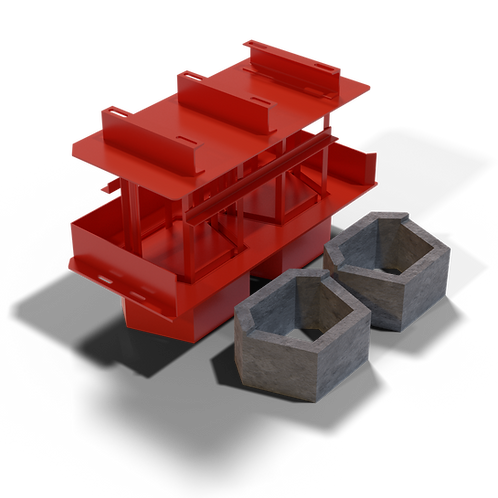JJJRWBEM Retaining Wall Block (Emerald Shape) MK3 Mould (340x220x450mm)