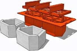 Retaining Wall Block (Emerald Shape) MK3 Mould (340x220x450mm)