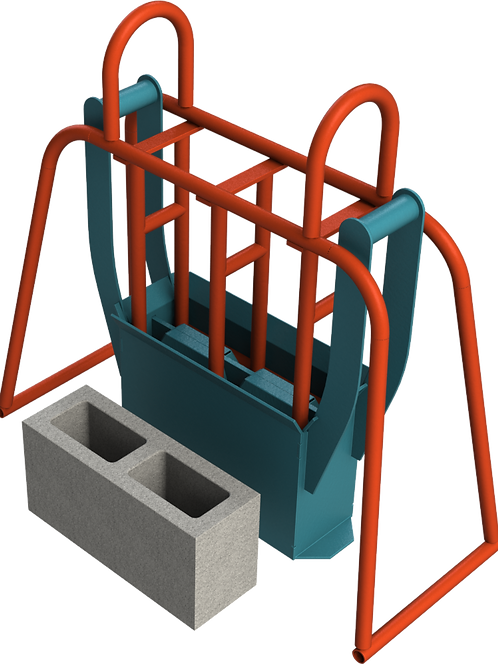 M6 Cavity Block Hand Mould (140x190x390mm)