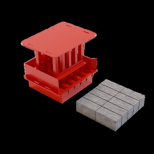 JJAAMXS Maxi Solid Brick MK2 Mould (90x114x222mm)