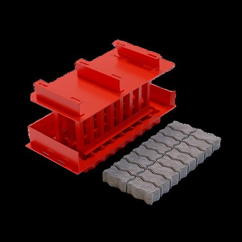 JJJPG Interlocking Paving Brick MK3 Mould (55/65/80x100x200mm)