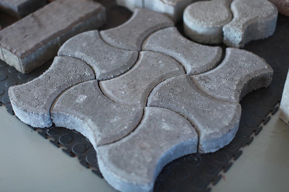 concrete paving bricks made by brick making machine