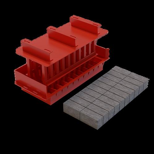 JJJAAMXS Maxi Solid Brick MK3 Mould (90x114x222mm)