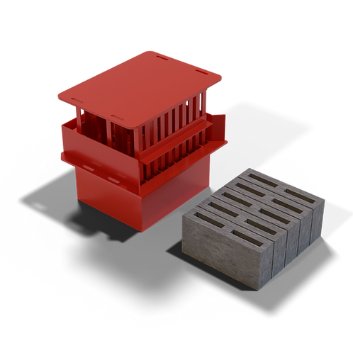 JJBCM M4 Cavity Block MK2 Mould (90x190x390mm)