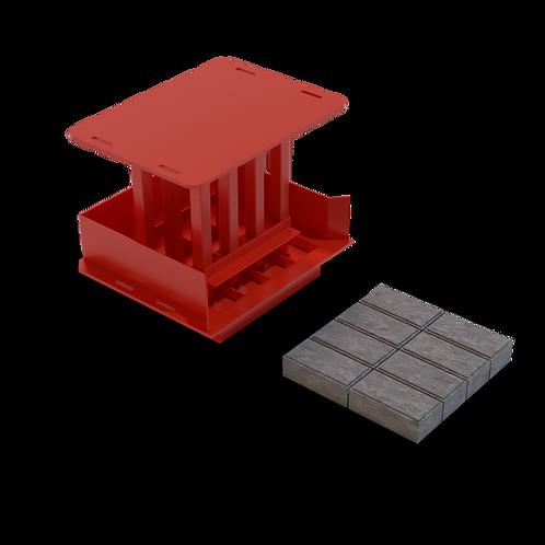 JJPB Rectangular Bevelled Paving Brick MK2 Mould (55/65/80x100x200mm)