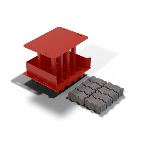JJPG Interlocking Paving Brick MK2 Mould (55/65/80x100x200mm)