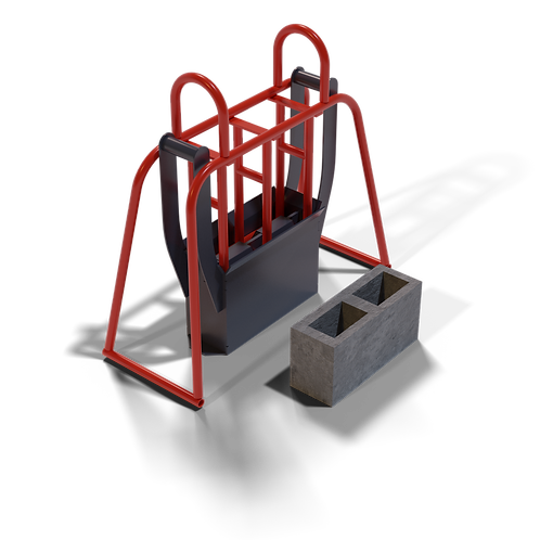 DIYBBM M6 Cavity Block Hand Mould (140x190x390mm)