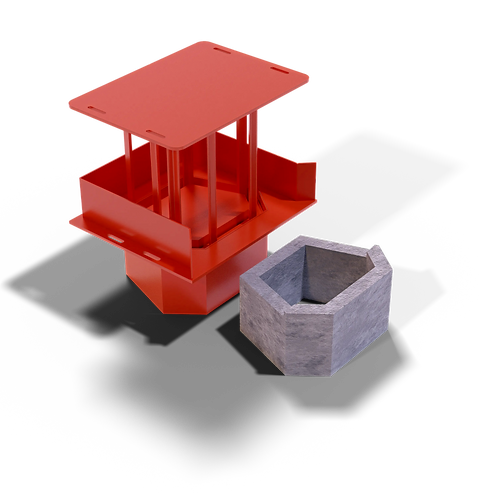 JJRWBEM Retaining Wall Block (Emerald Shape)