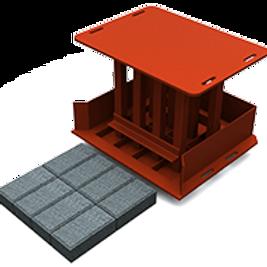 Rectangular Bevelled Paving Brick MK2 Mould (55/65/80x100x200mm)