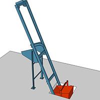 Skip loader to pre-load mixture