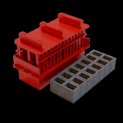 JJJBBM M6 Cavity Block MK3 Mould (140x190x390mm)