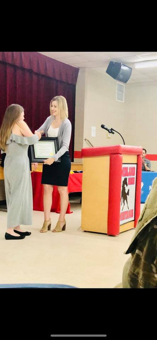 Chelsea receiving Award