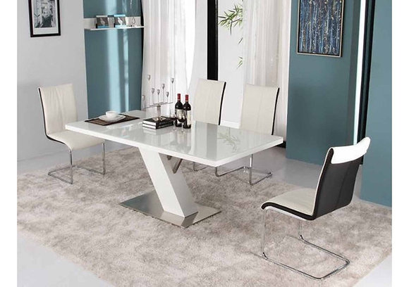 Lacquer Glass Top Conference Table