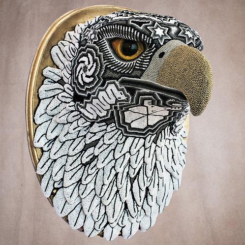 "Huichol Art "" Golden Eagle"""
