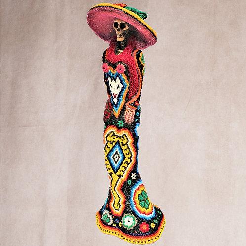 """Huichol Art """"Catrina 2"""""""