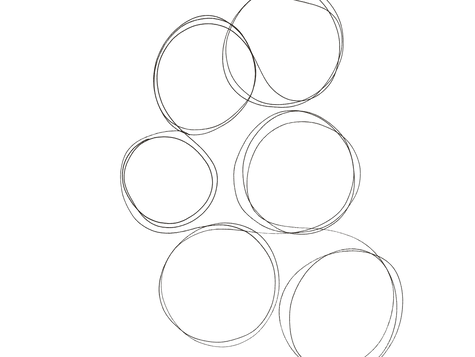 Connect circles, shape inspired by the shape of a tumulus