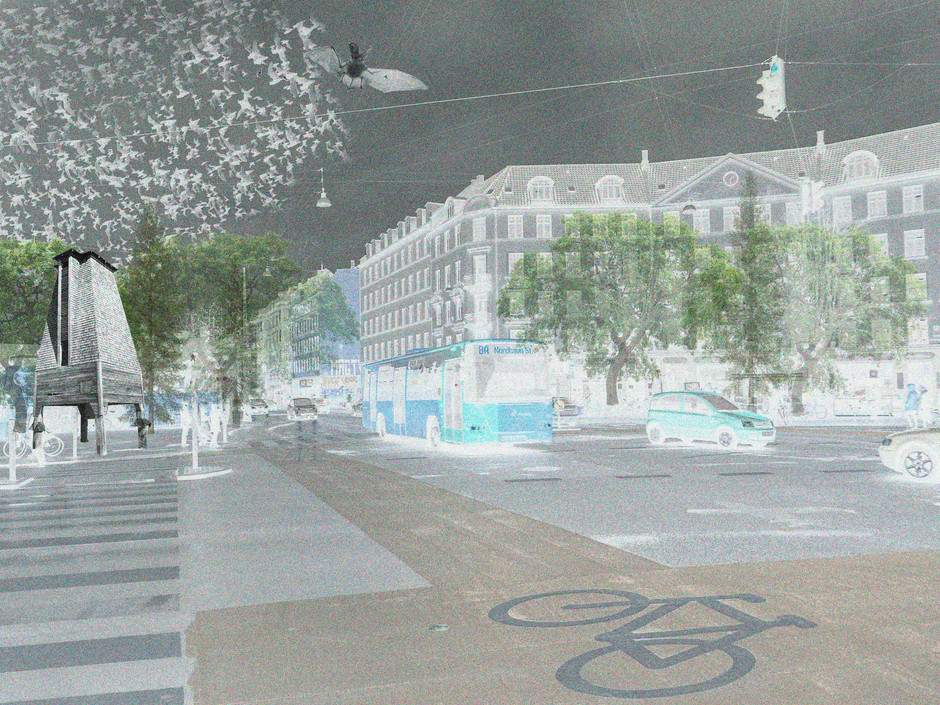 Collage over Nørrebro rondellen,