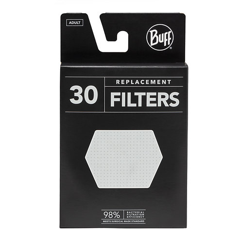BUFF Adult Replacement Filter Pack - 30 Filters