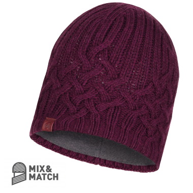 BUFF® KNITTED HAT HELLE WINE
