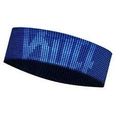 BUFF® UV Coolmax Headband Slim - LOGO DARK NAVY