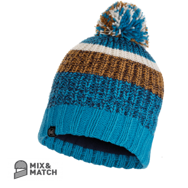 BUFF® KNITTED HAT STIG TEAL BLUE