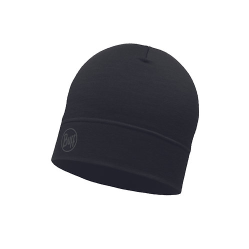 BUFF® Lightweight Merino Wool Hat Solid Black